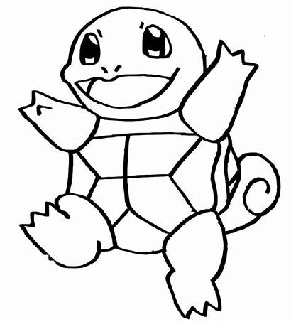 Squirtle Pokemon Coloring Pages Drawing Colouring Pikachu