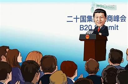 Speech Xi Cartoon Economy Global President Jinping