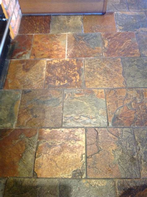 slate floor tile floor restoration cleaning and polishing tips for