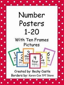 Number Chart 1 20 With Words Number Posters For The Classroom 0 20 With Tens Frames
