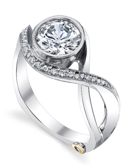 18k engagement ring modern engagement ring by schneider
