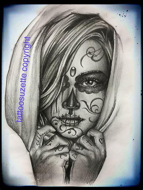 santa muerte tattoo design  tattoosuzette  deviantart