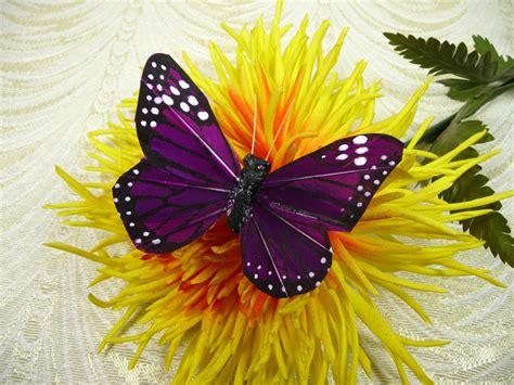 big purple butterflies handmade plum feather monarch