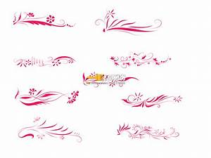 Floral Border Lines - Brushes - Fbrushes
