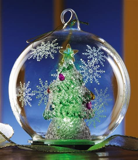 chagne christmas ornaments color changing tree ornament or tabletop decor new in box ebay