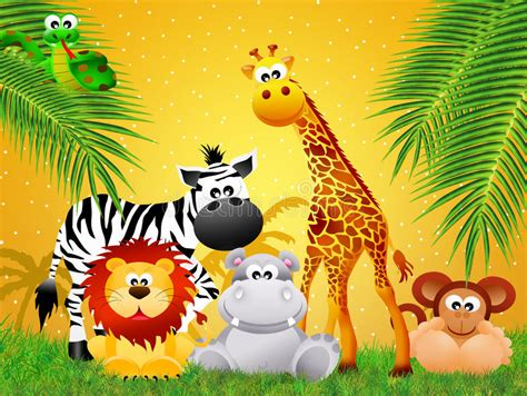 zoo animals cartoon stock illustration illustration