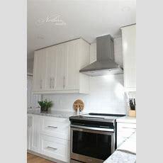 Ikea Kitchen Reno Grimslov Cabinets  Backsplash Down To