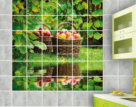 carrelage deco salle de bain stickers carrelage mural faience d 233 co cuisine ou salle de bain ile r 233 f1901 ebay
