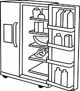 Fridge Coloring Refrigerator Pages Colouring Template Clipart Getcolorings Printable Colorings sketch template