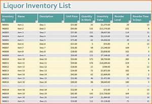 Monthly Expense Excel Template 7 Bar Liquor Inventory Spreadsheet Excel Spreadsheets Group