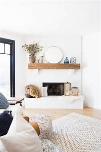 Tulsa, Remodel, Reveal, Modern, White, Farmhouse, With, Black, Windows, And, Doors, White, Brick, Fireplace