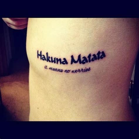 Mitattoo  Fotos De Tatuajes Tatuaje Hakuna Matata