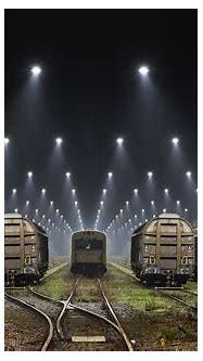 nature, Landscape, Railway, Lights, Mist, Freight Train ...