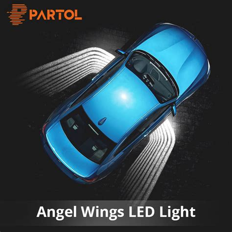 partol pcs angel wings car  light shadow light