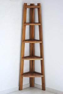 Etagere D Angle En Bois : etagere d 39 angle teck ~ Dailycaller-alerts.com Idées de Décoration