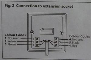 Telephone Wiring Colour Code Extension Socket  Telephone