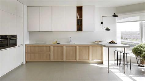cocina blanca madera moderna imagenes decoracion suelo