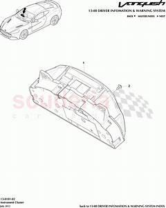 Aston Martin Vanquish  2012   Instrument Cluster Parts