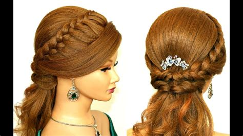 easy prom hairstyle  medium long hair youtube