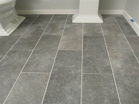 Laundry tiles ideas, gray plank bathroom floor tiles faux