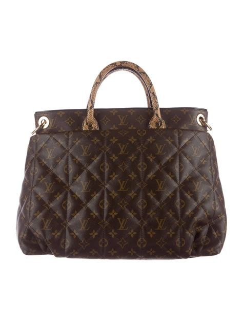 louis vuitton monogram python large mens carryall top handle tote shoulder bag  sale  stdibs