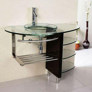 Modern Bathroom Glass Vanities by 36 Modern Bathroom Glass Bowl Clear Vessel Sink Wood