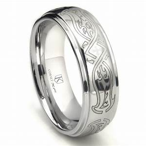 cobalt xf chrome 8mm celtic wedding band ring With cobalt wedding ring