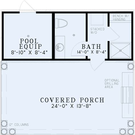 pool house plans with bathroom 1495 poolhouse plan with bathroom house plans