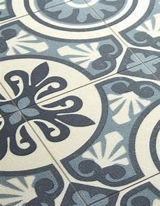 Tapis Pvc Carreaux De Ciment : sol vinyle emotion carreau ciment bleu rouleau 4 m saint maclou ma caravane au fond de la ~ Teatrodelosmanantiales.com Idées de Décoration