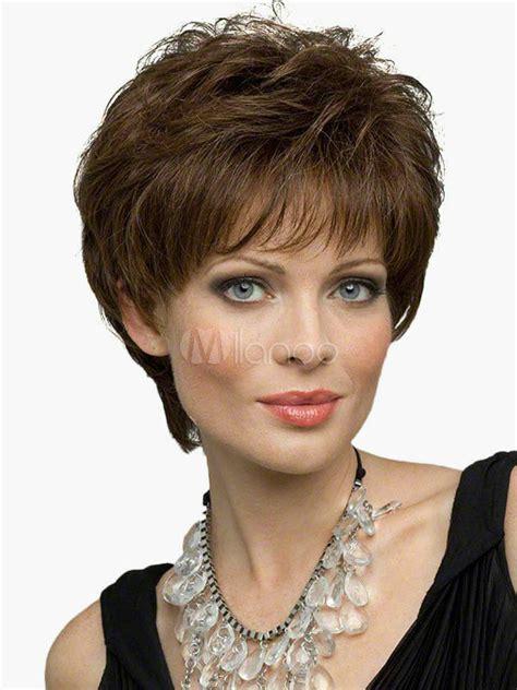 real hair  fashion charm womens short brown