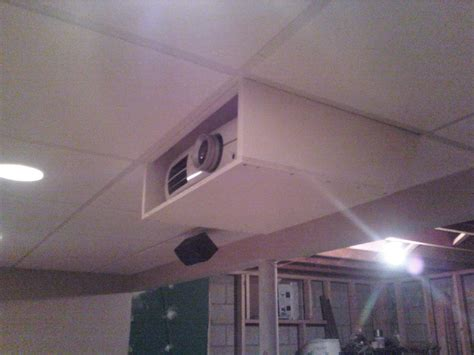 Drop Ceiling Projector Mount Diy by Cheap But Projector Mount For Epson 8350 Avs Forum