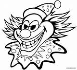 Clown Coloring Pages Face Printable sketch template