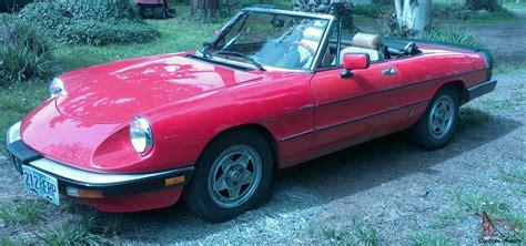 Alfa Romeo For Sale Ebay by 1983 Alfa Romeo Spider Veloce Convertable For Sale
