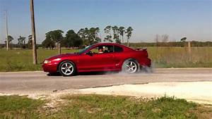 Red 98 Mustang Cobra Burnout - YouTube