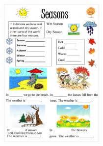 Printable Seasons Worksheets