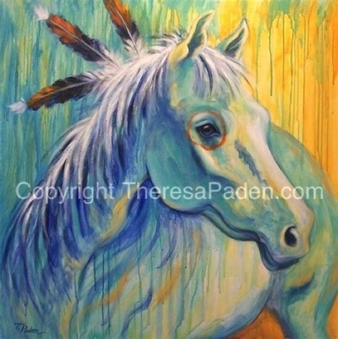 courageous one by theresa paden painted on 36 quot x 36