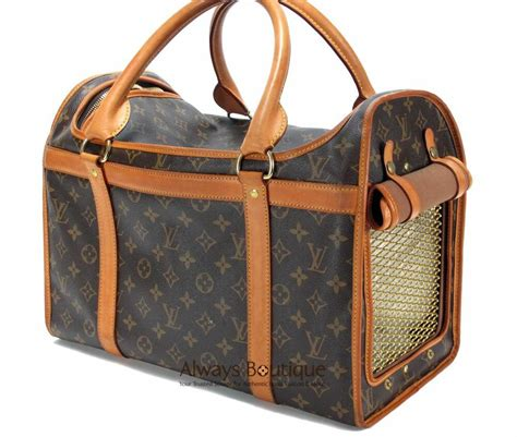 authentic louis vuitton monogram sac chien pet carrier dog
