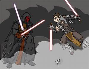 Darth Revan vs Starkiller by Mondo3685 on DeviantArt