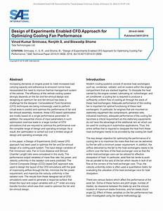 (PDF) Design of Experiments Enabled CFD Approach ...