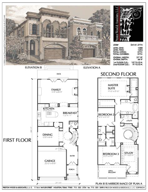 narrow house plans narrow home plans small narrow lot inner city house