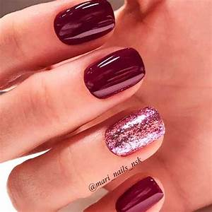 magnetic and trendy burgundy nails ideas