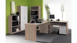 Büro Set Möbel : b ro set office compact in sonoma eiche und wei 5 teilig ~ Indierocktalk.com Haus und Dekorationen