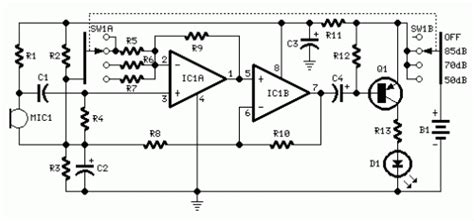 Room Noise Detector Circuit Diagram Instructions