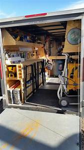 Making the most of a 10' trailer Van racking Pinterest
