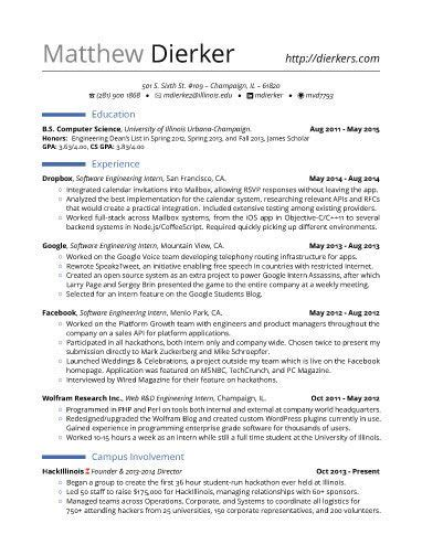 Real Free Resume Templates by Real Software Engineering Internship Resume Template