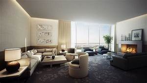 Spacious modern living room interiors for Feel the contemporary living room