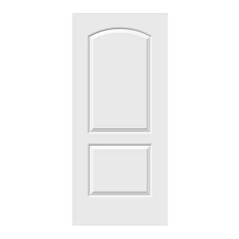 home depot 2 panel interior doors jeld wen 36 in x 78 in smooth 2 panel archtop primed