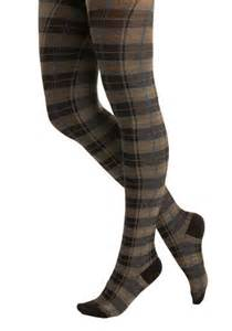 Plaid Skirts with Tights and Leggings