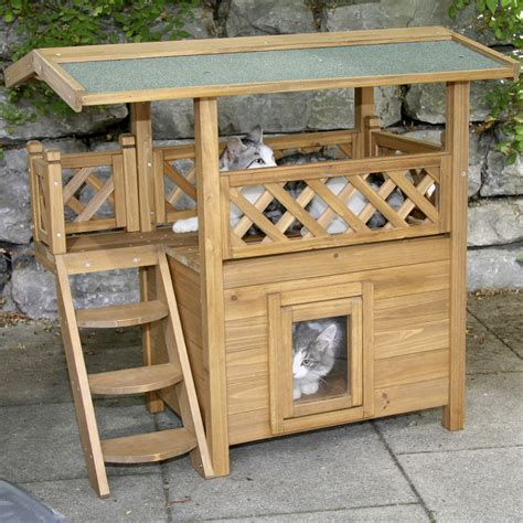 Wooden Pet House Shelter For Cat  Pinx Pets