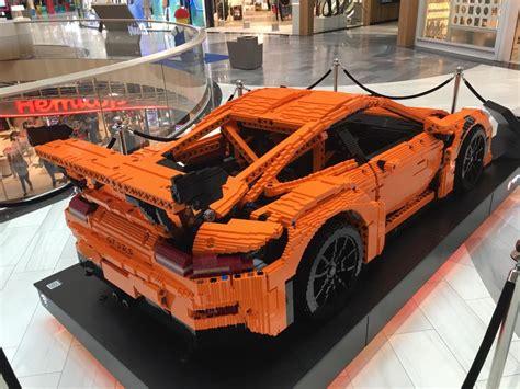 Epic Fullsized Porsche 911 Gt3 Rs Lego Car In Sweden